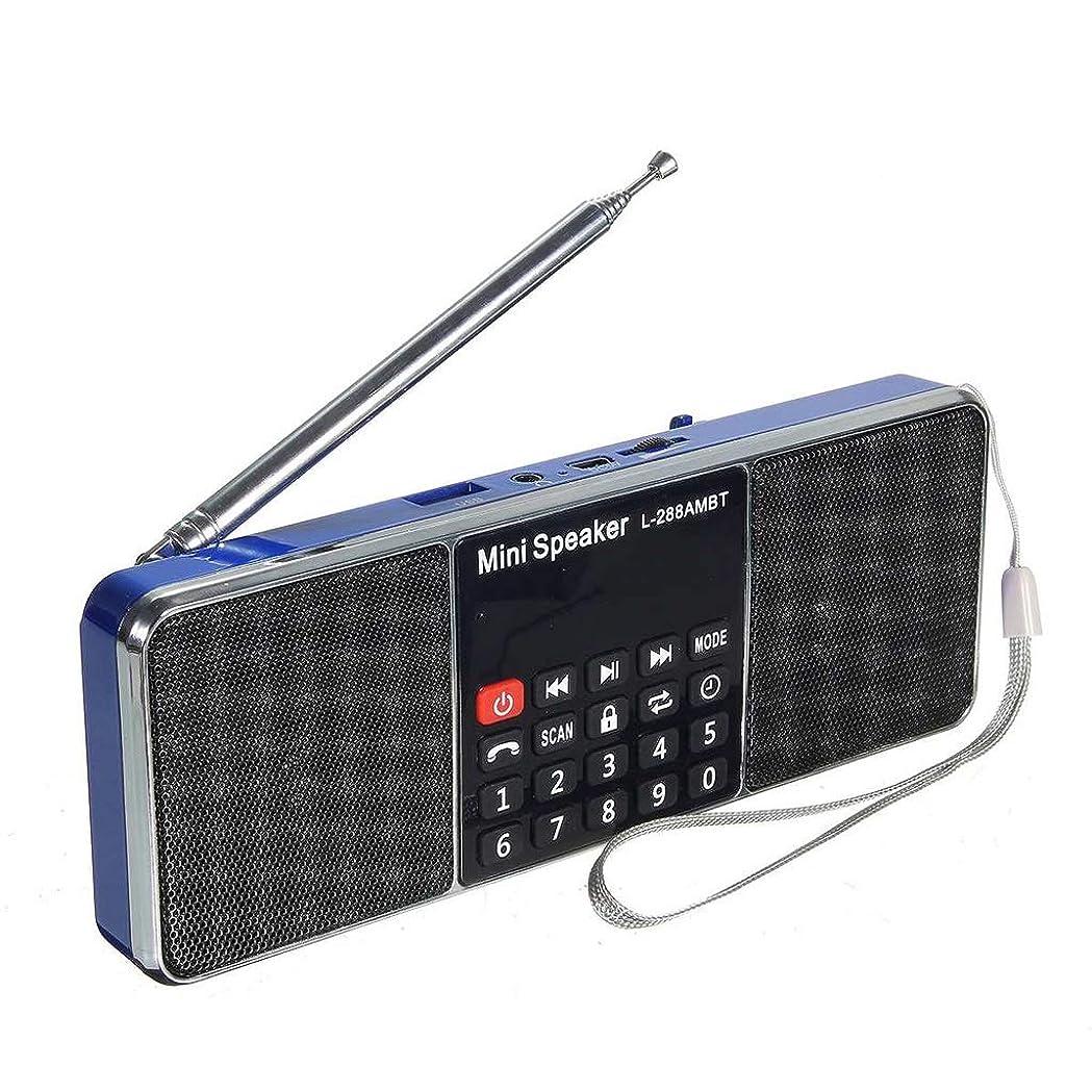 セミナー立証するにブルートゥースラジオポータブルアウトドアスポーツMp3デュアルスピーカーサブウーファーウォークマン (Color : Blue)