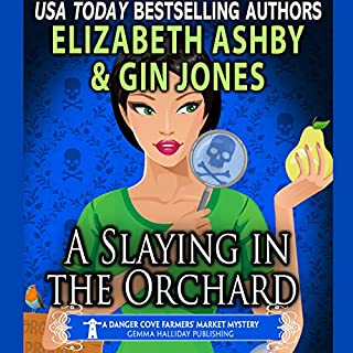 A Slaying in the Orchard     A Danger Cove Farmers' Market Mystery (Danger Cove Mysteries, Volume 16)              By:                                                                                                                                 Gin Jones,                                                                                        Elizabeth Ashby                               Narrated by:                                                                                                                                 Darlene Allen                      Length: 6 hrs and 21 mins     2 ratings     Overall 1.0