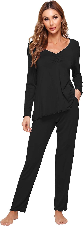 WiWi Womens Sale price Bamboo Comfy Sleepwear Shor Set Stretchy Pjs Genuine Free Shipping Pajamas