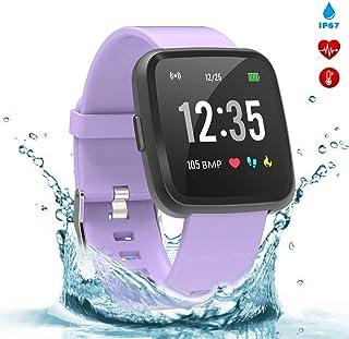 BingoFit Legend Smart Watch Fitness Tracker, Activity Tracker 1.3'' IPS Color Screen Health Watch IP67 Waterproof Fitness Watch HR BP Oxygen Sleep Monitor, Pedometer Watch for Women Men Kids
