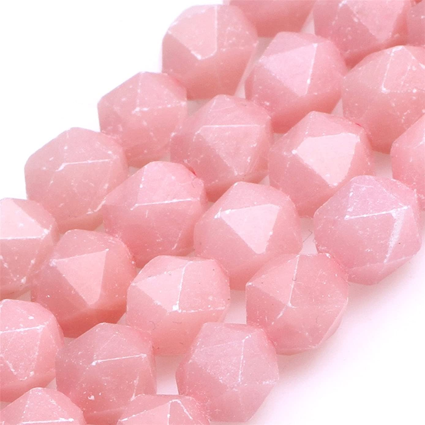 AAA Grade Faceted Semi Precious Gemstone Beads for Cambay Jewelry Making 15'' (Pink Opal/8mm)