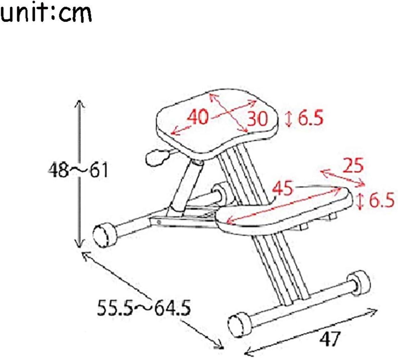 LWLEI Genoux orthopédique Ergonomique Posture Cadre Taille réglable Bureau des Soins de santé Tabouret Chaise Siège Durable (Couleur : Marron) Khaki