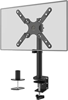 Single LCD Monitor Desk Mount Fully Adjustable Fit One Screen 13 to 42 inch, 22 lbs. Weight Capacity (M001SXL), Black by WALI