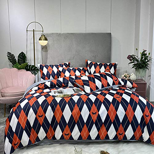 geek cook Complete Bedding Sets,Summer washed silk four-piece silk duvet cover naked sleeping ice silk tencel bed sheet-Mr. Fashion_2.2 Bed quilt cover 220 * 240