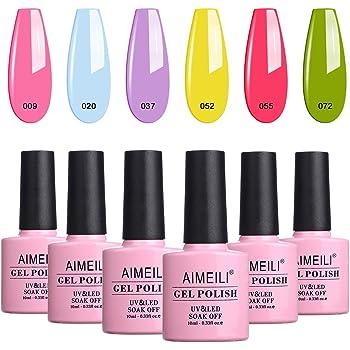 AIMEILI Esmaltes Semipermanentes de Uñas en Gel UV LED, Kit de Esmaltes de Uñas Esmaltes en