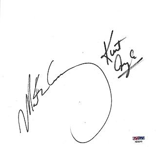 Mark Henry Kurt Angle Signed WWE 8x8.5 Cut Paper COA Wrestling Autograph - PSA/DNA Certified - Autographed Wrestling Cards