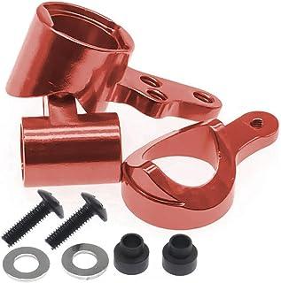 RCAWD Dirección Servo Saver Complete 1268 Aleación de Aluminio mecanizado para RC Hobby Model Car 1-14 Wltoys 144001 Buggy Option Parts Hop-Ups 2Pcs(Rojo)