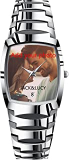 Personalized Watch Custom Watches with Photo Picture Watch for Men, Personalized Fathers Family Women Mens Couples Gift for Husband Or Dad 001