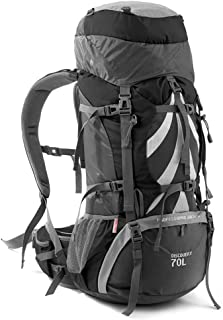 Backpack Female Super Large Capacity Hiking backpack Outdoor Mountaineering Bag Luggage Travel Annacboy (Color : Black)