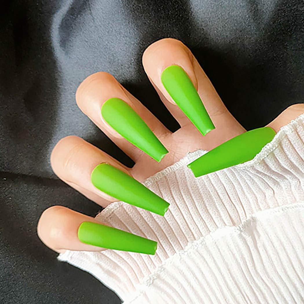 ELABEST Matte Ballerina False Nails Pure Cov Long Manufacturer OFFicial shop Regular discount Fake Full Nail