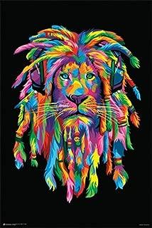 Lion Rasta Dreadlock Mane Cool Wall Decor Art Print Poster 24x36