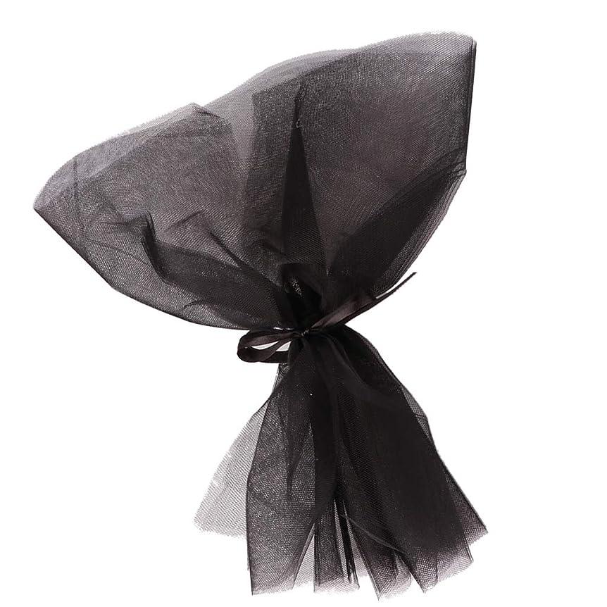 出費プレフィックスプレフィックスPerfeclan 10枚 花の包装紙 ブーケ包装 花の装飾 6色選べ - ブラック