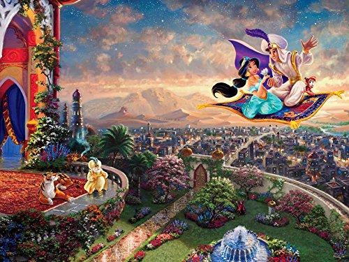 Ceaco Thomas Kinkade The Disney Collection Aladdin Jigsaw Puzzle, 750 Pieces Basic, 5