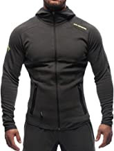 EVERWORTH Men's Gym Workout Hoodie Jacket Fitted Training Bodybuilding Running Active Sweatshirts with Zipper Pockets