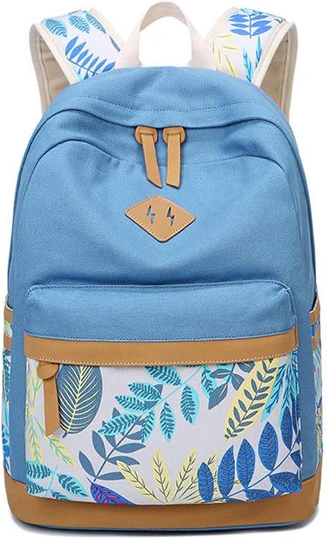 Gedruckter Schulrucksack für Mädchen, Teenager, große Kapazität, Damen, Damenrucksack Sky Blau B07QRXJDBL  Am praktischsten