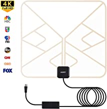 AUKEY TV Antenna Indoor Digital TV Antenna with Amplifier Signal Booster & 10ft Coaxial Cable Supports 4K 1080p HDTV Channels