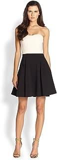 DVF Diane VON FURSTERNBERG Cream Black Avedon Flare Dress Retail $475