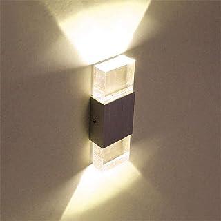 Lightess 6W Applique Murale Intérieur LED en Aluminium Acrylique Lampe Murale Moderne Luminaire Mural pour Chambre Couloir...