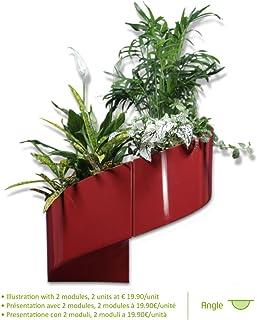 Modul'Green - Maceta decorativa de pared (para interiores y exteriores), color rojo