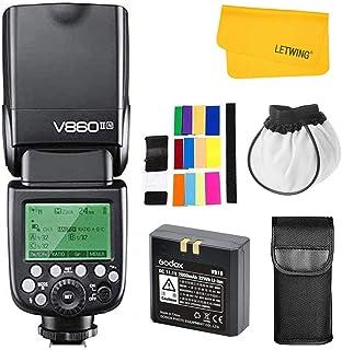 Godox V860II-N 2.4G TTL HSS 1/8000s con Li-on Batería Camara Flash Speedlite para Nikon D500 D7200 D5500 D5300 D300 D300S ...