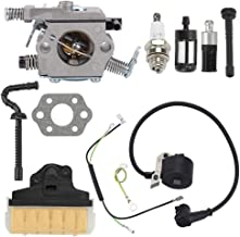 Fuel Li MS250 Carburetor for Stihl MS250 MS210 021 023 025 MS230 Walbro WT-286 Chainsaw with Air Filter Kit