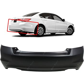 RainMan S Rear Bumper Cover Replacement for 2006-2007 Honda Accord Sedan