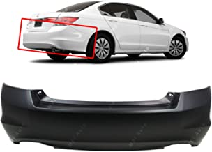 MBI AUTO - Primered, Rear Bumper Cover Replacement for 2008-2012 Honda Accord Sedan 4 Door 08-12, HO1100245
