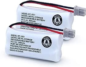 GEILIENERGY BT-1021 BBTG0798001 Compatible for Uniden BT1008 BT-1008 BT1016 BT-1016 BT1021 BT-1021 WITH43-269 WX12077 Sanyo CAS-D6325 CASD6325 Cordless Handset Phone(2 Pack)