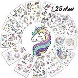 Immagine 2 simuer 25 fogli unicorno tatuaggi