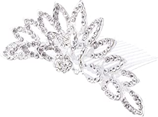 Lurrose キッズガールズプリンセスクラウンコームラインストーンティアラヘアコーム誕生日の結婚式のティアラヘアアクセサリー(ダークグレー)