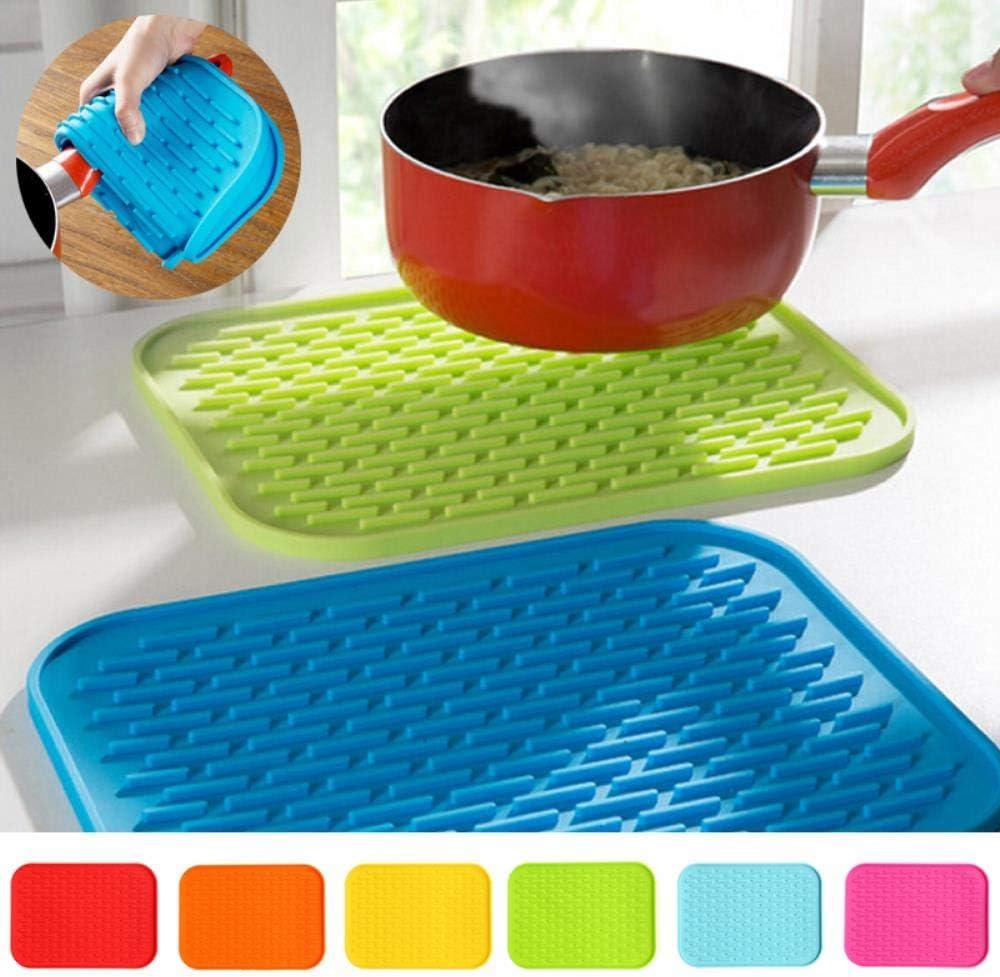 XCWQ Rechteck hitzebeständige Matte Silikon rutschfeste Untersetzer Pot Pan Halter Matte Pad für Küche Accessories.2 1