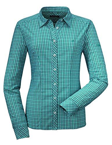 Schöffel Madrid Dames functionele blouse turquoise