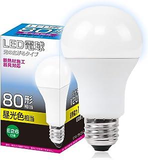 共同照明 LED電球 E26 80W形相当 密閉型器具対応(GT-B-12W-E26-3) 光の広がるタイプ 一般電球 昼光色 12W 1200LM e26 26mm 26口金 80w相当 led 照明器具 led照明 消費電力 長寿命 LED