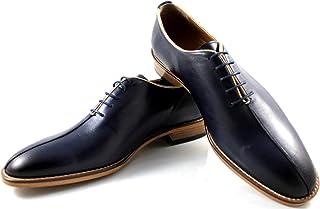 CANNERI Scarpe Stringate Uomo - 8123 - Split Toe Oxford - Casuale e Business - Scarpa Classica in Pelle con Design e Stile