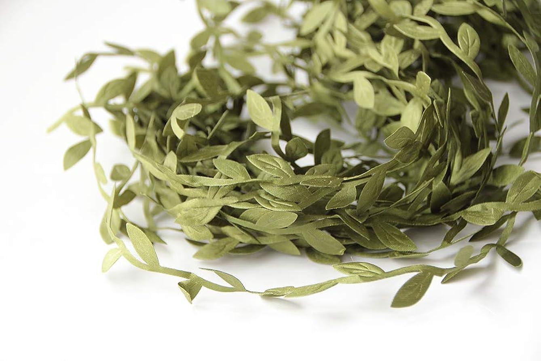 10 Meters Leaf Trim Ribbon for DIY Craft Party Wedding Home Decoration (Green Olive)