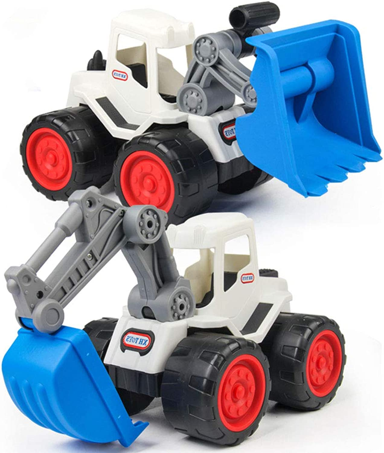 Xyanzi Baby Toys Construction Toys-2 PCS Pullback Excavators and Bulldozers for Boys, Girls, Toddlers and Kids