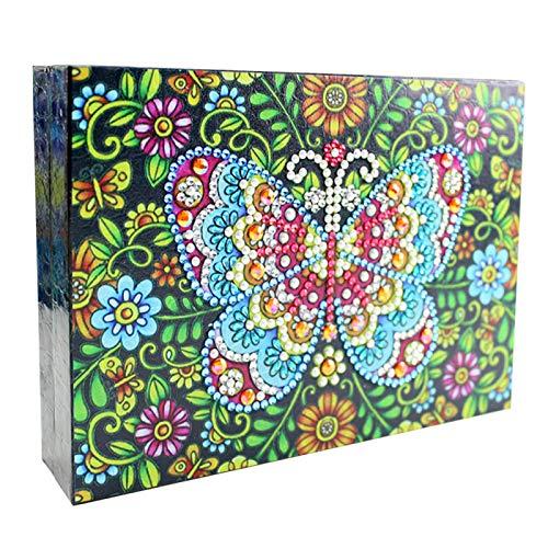 MVPACKEEY Caja de joyería, cuero de la PU DIY 5D pintura diamante escritorio hogar regalo caja de exhibición