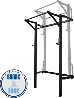 PRx Performance Murphy Rack Fold Up, Wall Mounted Squat Rack, 90 Inch Uprights, Space Saving Power Rack, Home Gym Equipment, Pull Up Bar, Heavy Duty J-Cups, Fitness Equipment