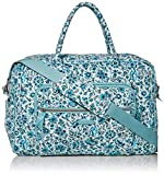 Vera Bradley Signature Cotton Weekender Travel Bag, Cloud Vine