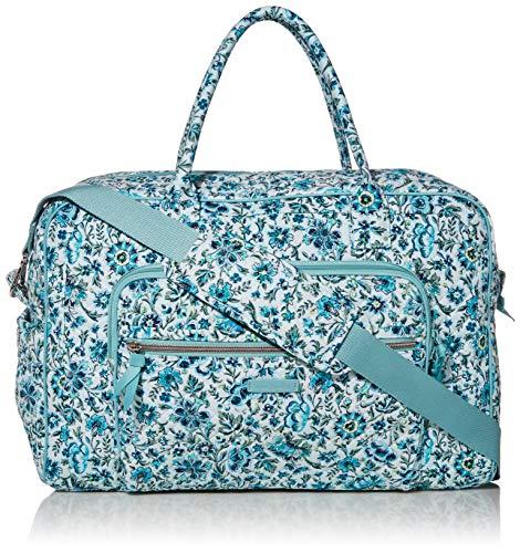 Vera Bradley Signature Cotton Weekender Travel Bag Cloud Vine