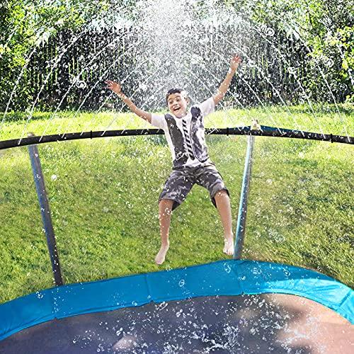 ARTBECK Trampoline Sprinkler for Kids, Outdoor Trampoline Water Park Sprinklers for Boys Girls, Trampoline Accessories for Summer Fun Backyard Water Play Games 39ft