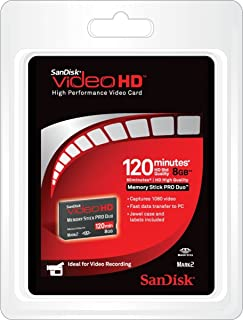 Sandisk 8GB Ultra II Memory Stick Pro Duo MSPD Video HD Card - Retail Pack