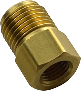 9/16-18 Male 3/8-24 Female Inverted Flare Brake Line Brass Adapter 3/16 GM M/C (E-10-13)