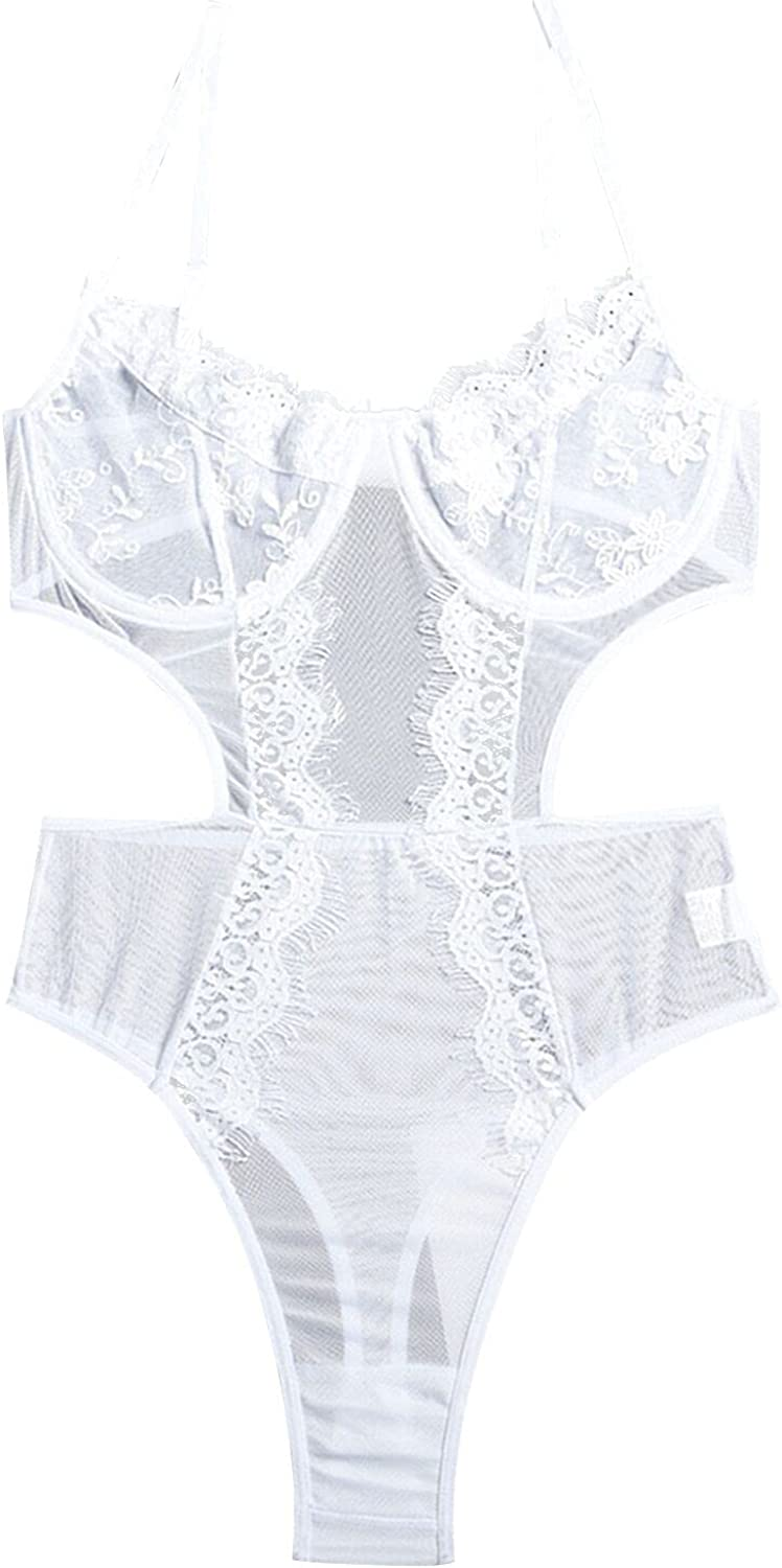Intimates for Women Lingerie, Women Sexy Lace One-Piece Stitching High Elasticity Slim Sexy Bodysuit