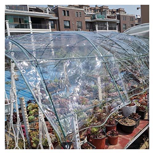 MAHFEI Lonas Impermeables Exterior, con Ojales Toldos Cubierta De Invernadero PVC Transparente De 0,3 Mm Resistencia Al Desgarro Cortina De Partición Alta Transparencia Resistencia Al Clima