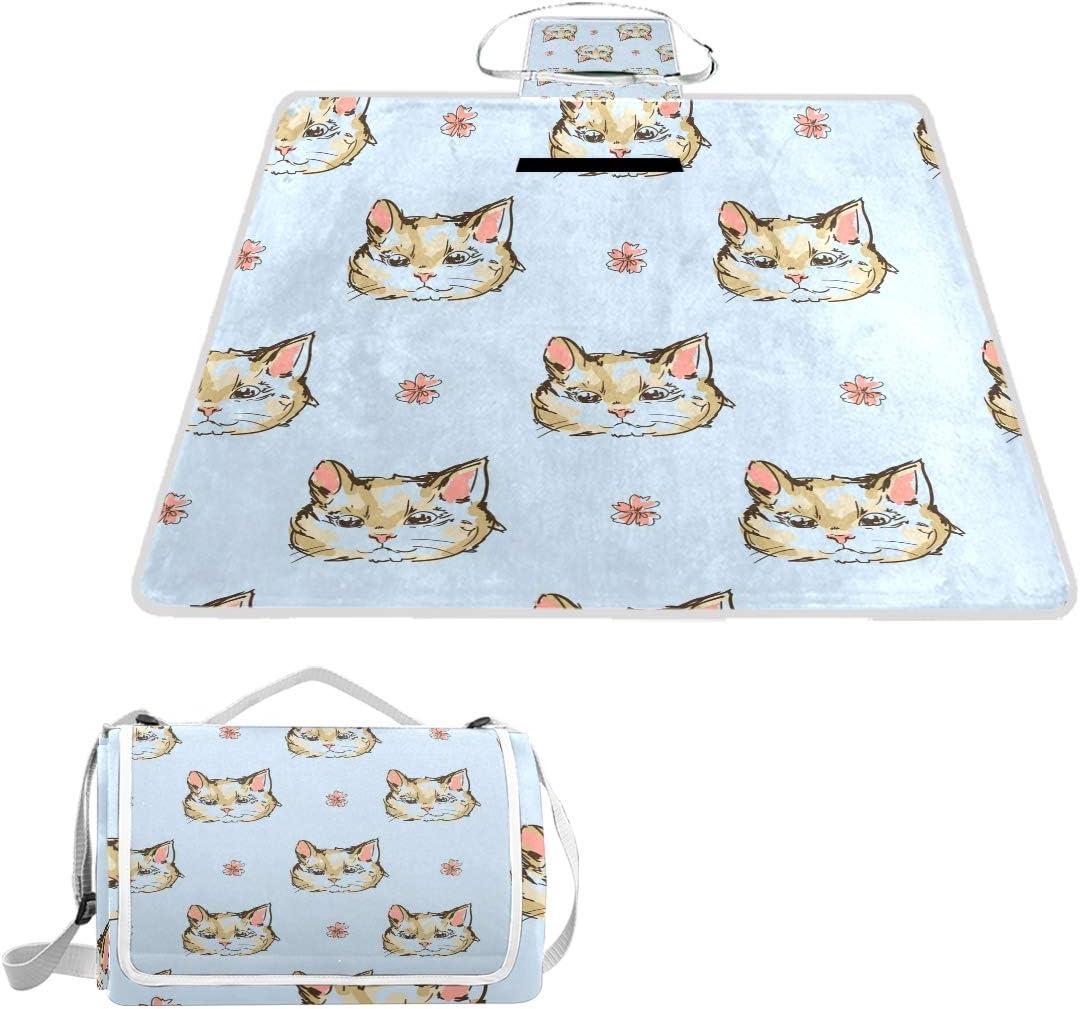 Ranking TOP7 OPRINT Cute Cats Kittens Picnic Mat Waterproof f Popular standard Blanket Outdoor