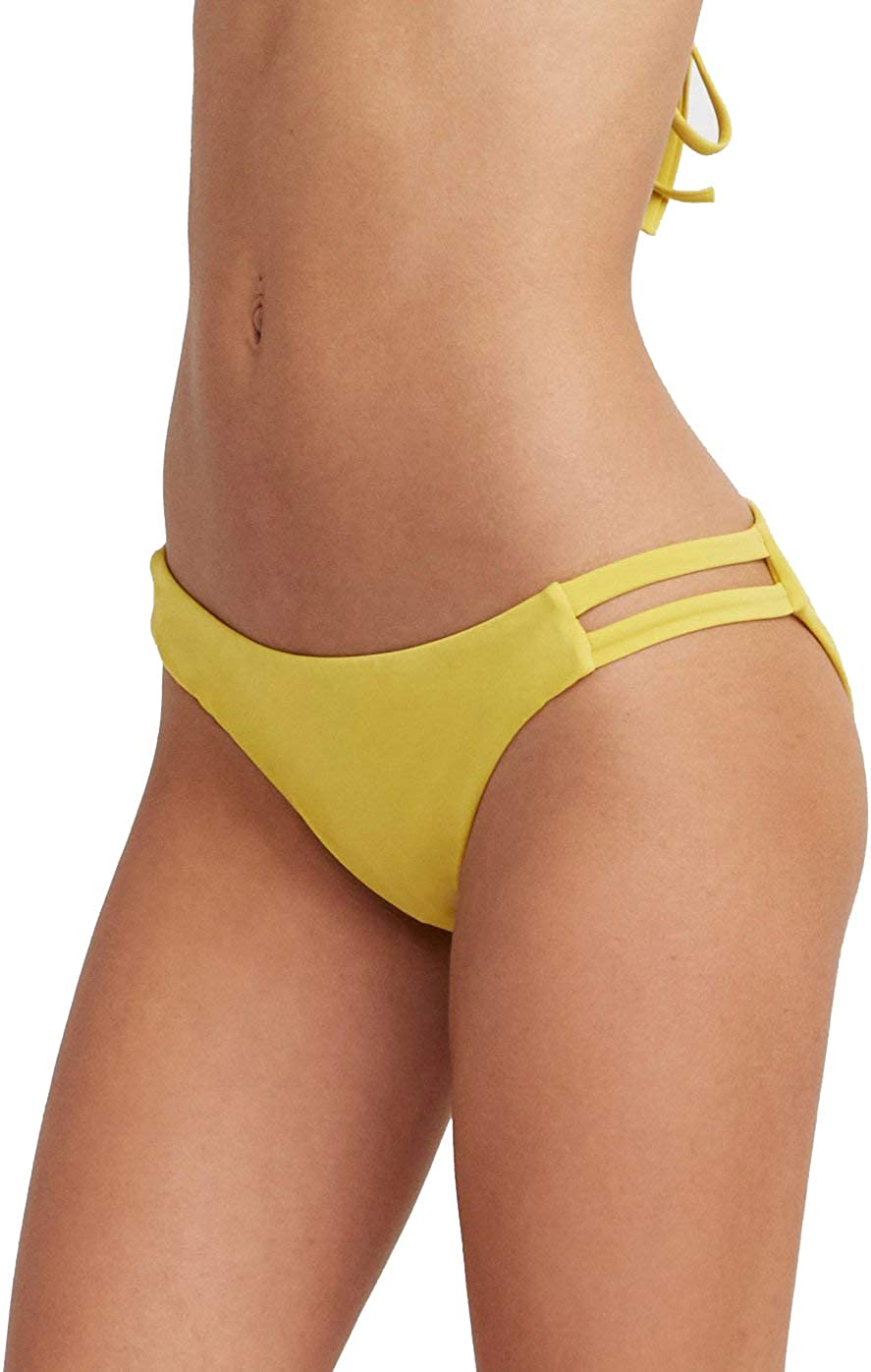RVCA Women's Solid Full Tab Side Bikini Bottom