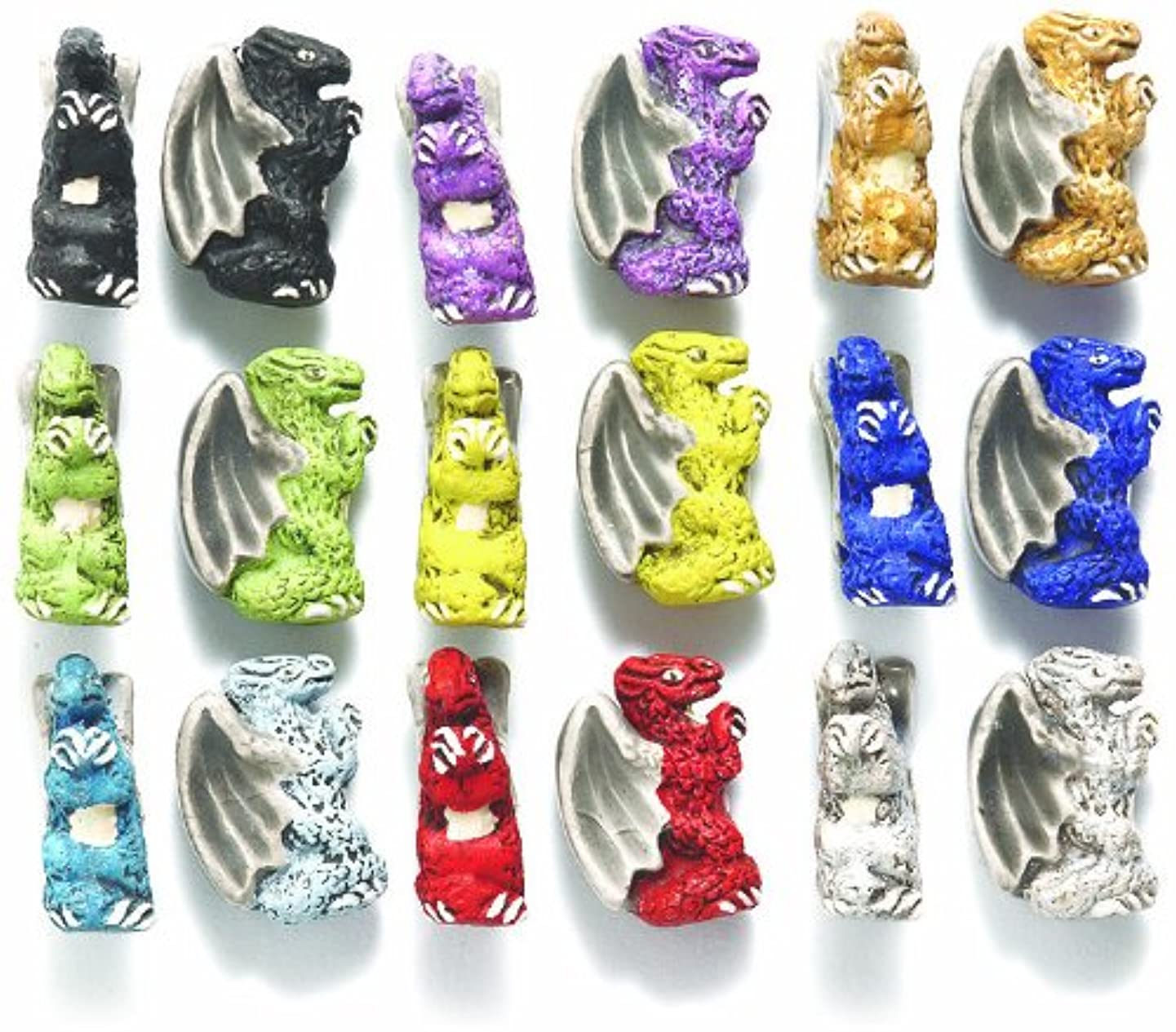 Peruvian Shipwreck Hand Crafted Ceramic Winged Dragon Mix Beads, 10 by 15mm, Assorted, 15-mm