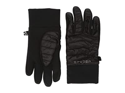 Spyder Kids Glissade Hybrid (Little Kids/Big Kids) (Black) Extreme Cold Weather Gloves