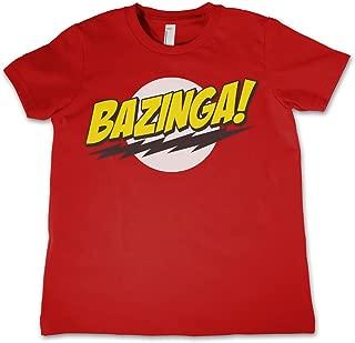 T Shirt Bazinga Super Logo Official Kids Red 3-12Yrs